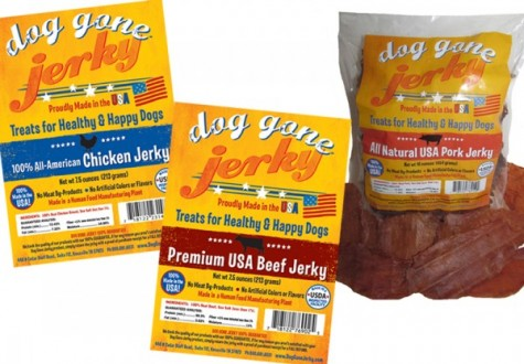 Dog Gone Jerky packaging label artwork